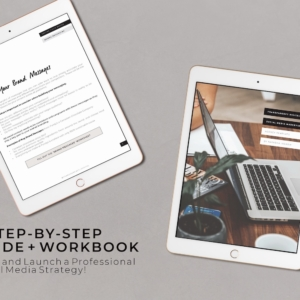 social media template, social media workbook